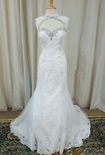 NEW Angelina Faccenda Couture Mori Lee Bridal Gown Wedding Dress 1285 White Sz14