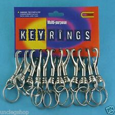 1x Solid Strong Metal Hipster Belt Clip Keychain Chunky Key Rings