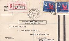 More details for trinidad & tobago 1965 registered busines reply cvr to huddersfield uk 50c rate