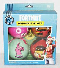 Fortnite Ornament Christmas Holiday Keepsake Set of 4