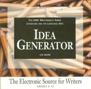 Idea Generator: Electronic Source For Writers Grades 6-12 PC MAC CD topics forms