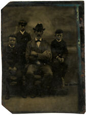 Photo Ferrotype Portrait Famille Vers 1870