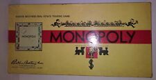 VINTAGE 1935 1946 MONOPOLY BOARD GAME PLAYING PIECES MONEY BOX REAL ESTATE