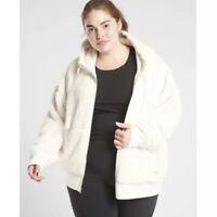 NEW Athleta Cozy Sherpa Reversible Jacket Women's Plus Size 1X NWT