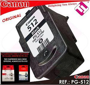Ink Black Canon Pg 512 XL Original Cartridge Printer PG-512XL Energy Saving