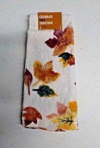Kohl's Brand Fall Leaf Print Tip Towel New Nwt #12241