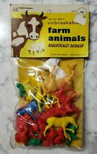 Vintage 1967 MPC Plastic Farm Animals Multiple Toymakers Still Sealed Package