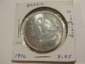 Brazil 1972 20 Cruzeiros Silver unc Coin
