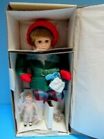 """VTG NORMAN ROCKWELL'S """"LITTLE GIRL & HER DOLL"""" HAND-CRAFTED PORCELAIN DOLL - NIB"""