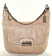 COACH KRISTEN Beige TAN LEATHER HOBO Shoulder Purse Handbag Satchel Tote