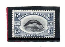 Falklands Islands GV 1933 6d black & slate sg 133 Used