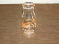 VINTAGE 1955 CROWLEY'S  1/2 HALF PINT MILK BOTTLE