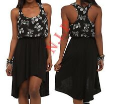 Hot Topic Visual Kei Punk Goth Steampunk Cyber Skull Butterfly High Low Dress