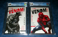 AMAZING SPIDER-MAN VENOM INC ALPHA & OMEGA #1 set DELL OTTO variant CGC 9.8 both