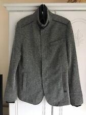 "Mans Zara 36"" Black & Grey Jacket Zip/popper  Jacket Pre Owned"