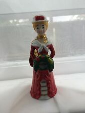 Vintage 1981 Sears Roebuck and co. Holiday bell tall thin lady holding wreath