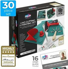Lino Cutting & Printing Starter Kit (30-pieces) – by Zieler® - Ideal for School