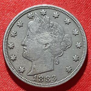 1883 Liberty V Nickel  - Very Fine