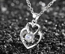 925 Silver plating Fashion Women Crystal Rhinestone Necklace Pendant Chain #6