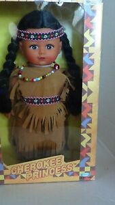 Cherokee Princesses Native American Dolls 1990 Cititoy Original Box Vintage Set