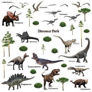 Dinosaur Park, Children Wall Stickers, DIY Art, Nursery Decorations