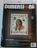 "Dimensions Counted Cross Stitch Kit Native Heritage 11 x 14"" nip 3736"
