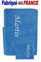 Serviette + gant de toilette personnalisé ou drap de bain + gant NEUF Ref.nattie