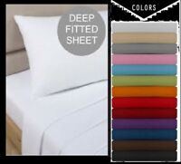 """Luxuries Percale Extra Deep Fitted Sheet, Non iron, 180 TC, 12""""(30cm) Box Sheets"""