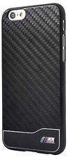 BMW M Collection Real Carbon Aluminium Rear Case for Apple iPhone 6 & 6s - Black