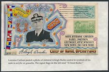 ADM. A. BURKE W/ HIS SYMBOLS OF RANK IN HAND PAINTED IN ACRYLIC SIGNED BS6158