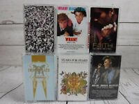 Cassette Tape Lot 6 Hits MADONNA HALL/OATES TEARS FOR FEARS WHAM GEORGE MICHAEL
