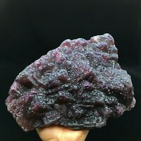 3455gThe newly discovered-Natural Cube Deep Purple/Red Fluorite Crystal Cluster