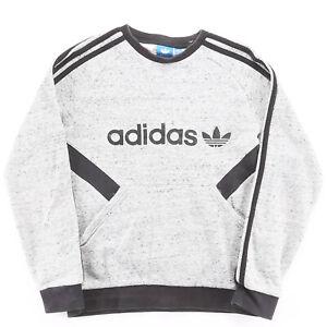 ADIDAS  Grey Classic Crew Neck Sweatshirt Boys M