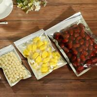 Clear Silver Aluminum Foil Zip Lock Bags Mylar Food Pouches Packaging Resealable