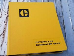 1982 Caterpillar Engine & Generator Sets & Controls Catalogs in Sales Binder