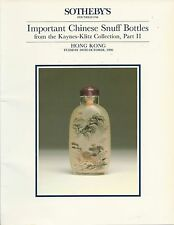 SOTHEBY'S HK CHINESE SNUFF BOTTLES Kaynes-Klitz Collection Part II Catalog 1990