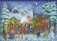 1 Sellmer Adventskalender mit Glimmer Ein Zug voller Geschenke Kinder Nr.803