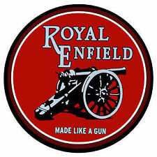 Round Royal Enfield motorcycle vintage style Metal Sign