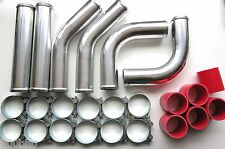 """Universal Pipework Kit 76mm (3"""") for Front Mount Intercooler (FMIC) - RED"""