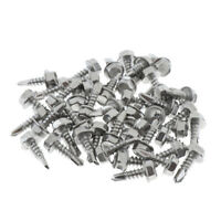 #8 Stainless Steel Roofing Siding Screws Hex Washer Head Tek Thread Fasteners
