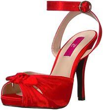 Sandali e scarpe rosse Pleaser per il mare da donna