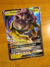 NM Pokemon RAIKOU GX Card BLACK STAR PROMO Set SM121 Collection Box Sun and Moon