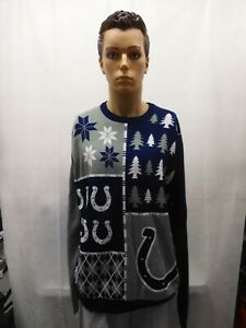 Indianapolis Colts Christmas Sweater XL NFL