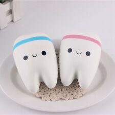 Cute Tooth Super Jumbo Squishy Slow Rising Phone Strap Squeeze Kids Toy Keychain