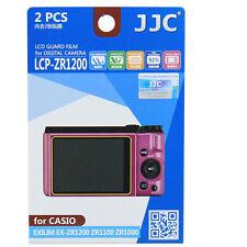 JJC LCP-ZR1200 polycarbonate LCD Film Screen Protector F Casio ZR1200 ZR1100 2PK