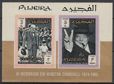 Fujeira 1967 ** Bl.7 B Winston Churchill UK Politiker Politician