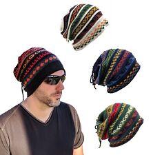 Alpaca Wool GEOMETRIC Beanie Multi-Functional One Size Hat-Scarf