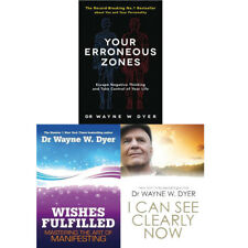 Dr Wayne W.Dyer Collection 3 Books Set I Can See Clearly Now,Wishes Fulfilled
