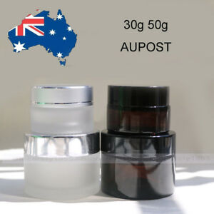 30g 50g 100g Amber Glass Cosmetic Jar Bottles Face Cream Homemade Lotion Gels