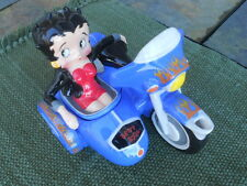 Hard-To-Find Betty Boop Ceramic Motorcycle w/Sidecar Coffee Creamer, Minor Flaws